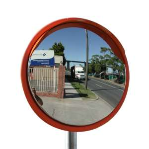 "24"" Outdoor Stainless Steel Road Mirror"