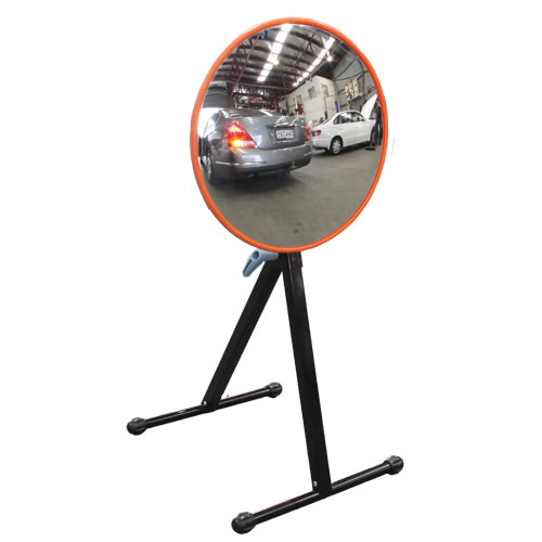 "24"" Indoor Outdoor Portable Mirror With Stand"