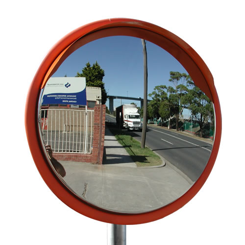"32"" Outdoor Stainless Steel Road Mirror"