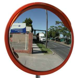 "40"" Outdoor Stainless Steel Road Mirror"