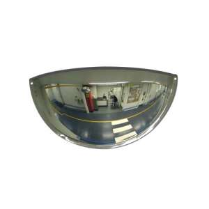 "20"" Stainless Steel Half Dome Mirror"