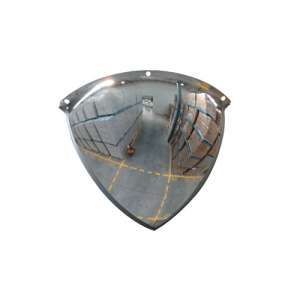 "20"" Stainless Steel Quarter Dome Mirror"